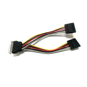 SATA Power Splitter Cable 1 x 15 pin M - 2 x 15 pin F 15cm