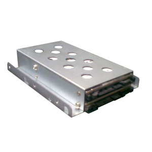 "1 x 3.5"" to 2 x 2.5"" HDD/SSD Tray Converter Silver"