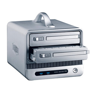 TerraMaster F2-NAS 2 NAS Device, 2x 3.5' SATA Bays, RAID 0/1, JBOD, Gigabit, USB 2.0, BT