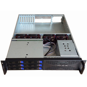 2U 6-Bay Hotswap Server Chassis - 550MM Deep