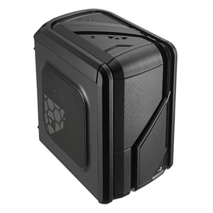 Aerocool GT-RS-Black Mid Tower Case with 1x12cm FAN Ctrl, 2 x USB 3.0, 2 x USB2.0 & HD Audio