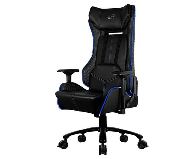 Enjoyable Aerocool P7 Gc1 Air Rgb Gaming Chair With Remote Control Black Blue Alphanode Cool Chair Designs And Ideas Alphanodeonline