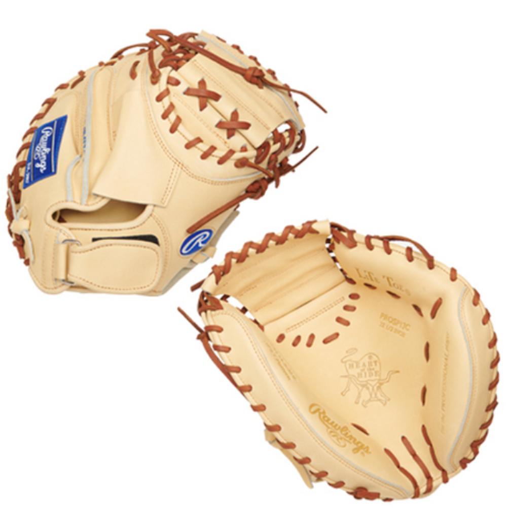 "RAWLINGS HEART OF THE HIDE CATCHERS MITT – PROSP13C 32.5"" RHT Baseball"