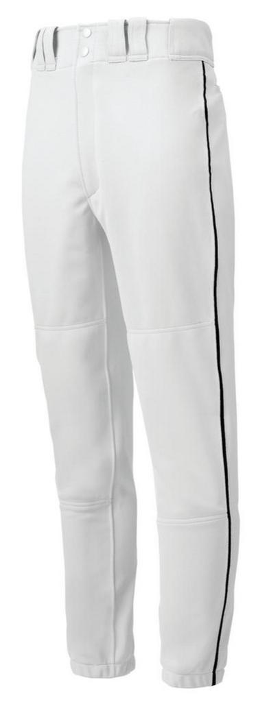 Mizuno Elastic Bottom Pants - White w/Black, Navy, Royal, Scarlet