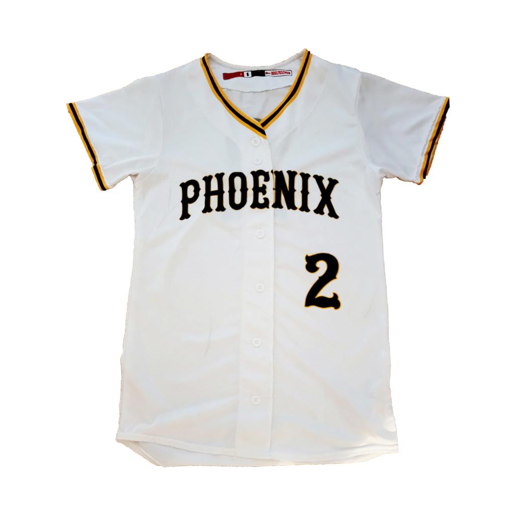 Phoenix Button Up Jersey -  White