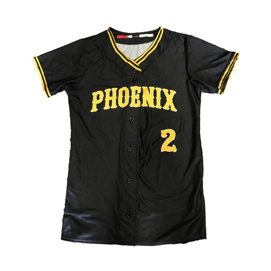 Phoenix Button Up Jersey -  Black