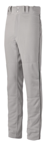 Mizuno Full Length Pant - Grey w/BLACK,NAVY,ROYAL,SCARLET PIPE