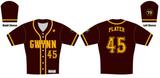 Gwynn Full Button Jersey - Brown