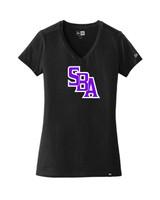 SBA Womens V-Neck - Black