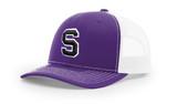 SBA Snap Back Cap  - Purple/White