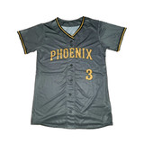 Phoenix Button Up Jersey -  Grey