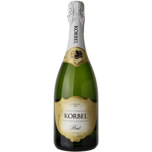 Bottle Of Korbel Brut Champagne
