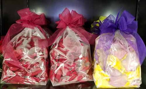 Large bag of fresh rose petals, in Red or Mixed colors