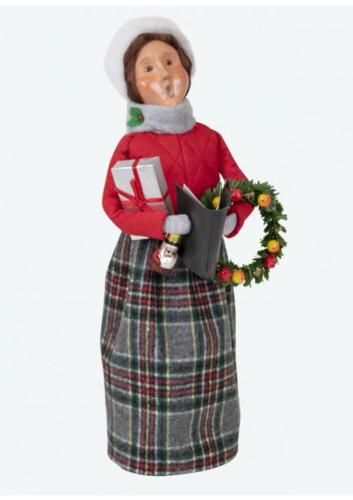 Byers Choice Red Shopper Woman
