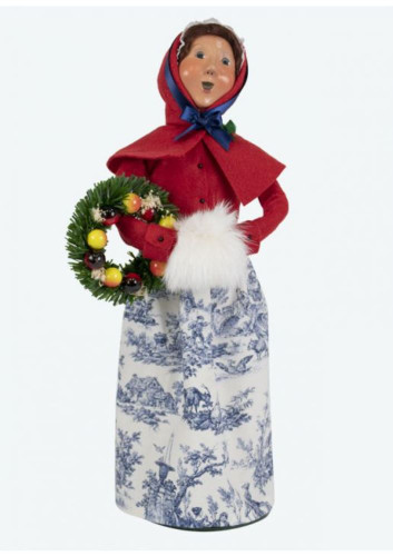 Byers Choice Colonial Woman with Wreath