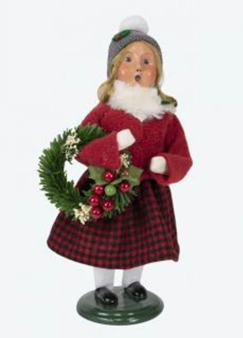 Byers Choice Miller Girl With Wreath