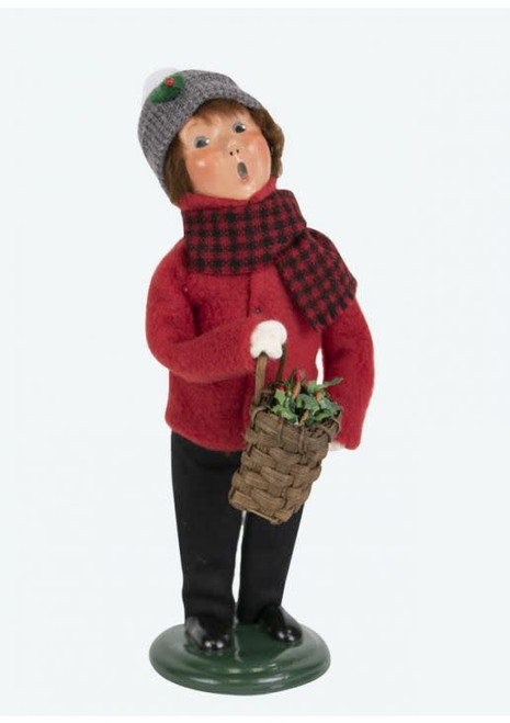 Byers Choice Miller Boy With Wreath