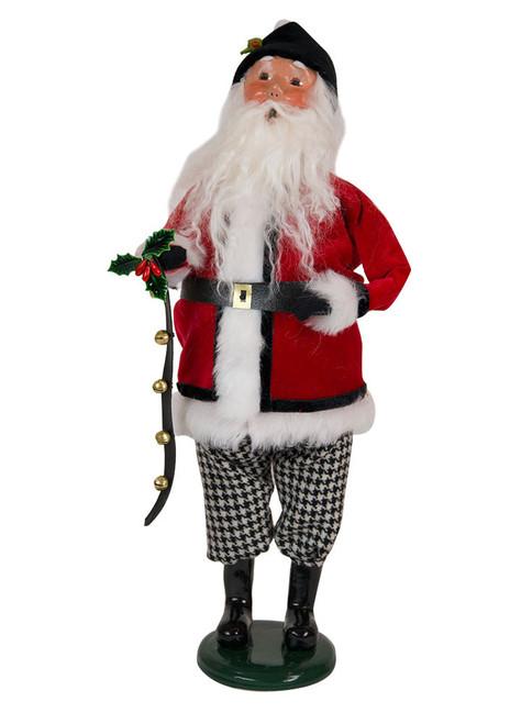 Byers Choice Houndstooth Santa