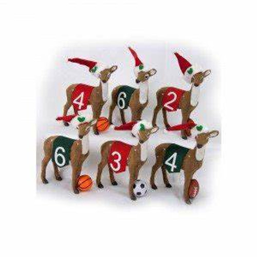 Byers Choice Reindeer Playing Games