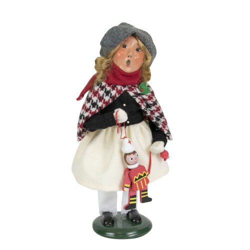 Byers Choice Girl Holding Toys