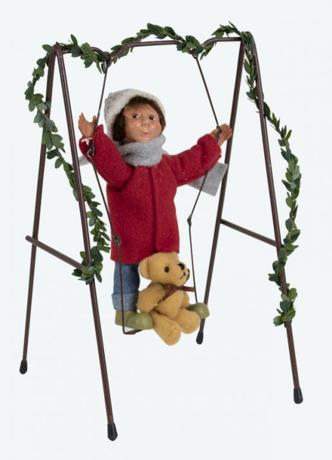 Byers Choice Toddler Boy on Swing