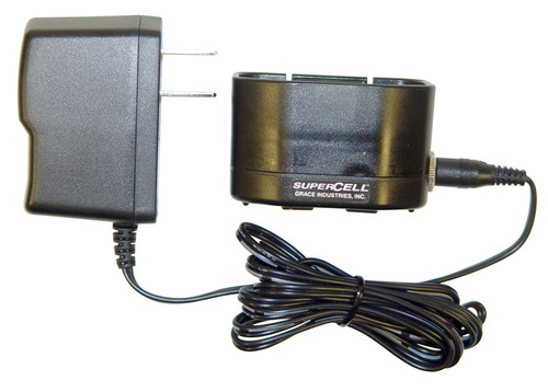 SC500SBC-AC: SC500 Battery Charger Single Unit with Charger base and AC Power Adapter.