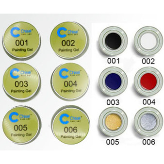 Chisel Spider Gel Kit 6 Colors 5ml each