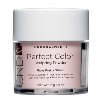 CND - PERFECT COLOR SCULPTING POWDERS - PURE PINK - SHEER 0.8 Oz. / 22 g