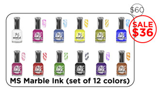 Ms Marble Ink (set of 12 colors)