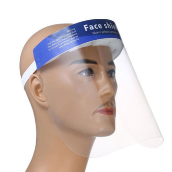 Face Shield With Sponge & Blue Banner