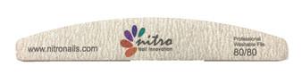 Nitro Rhombus Nail File - Zebra 80/80 50pcs