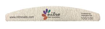 Nitro Rhombus Nail File - Zebra 100/100 50pcs