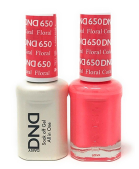 DND Duo Gel  #650 FORAL CORAL