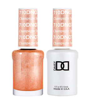 DND Duo Gel  #710 CHAMPAGNE SPARKLES