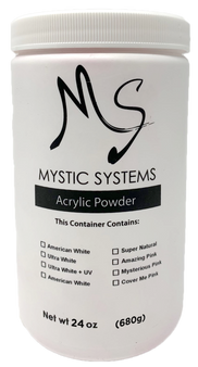 MS Mystic Systems Acrylic Powder Mysterious Pink + UV 24 oz