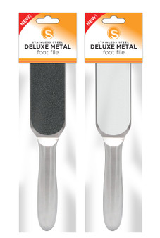 Sunny Deluxe Metal Foot File - Free 1 Pack Replacement