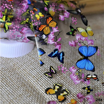 24# - Butterfly Nail Foil Paper (colorful)