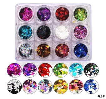 43# - Nail Sequin Butterfly (set of 12)