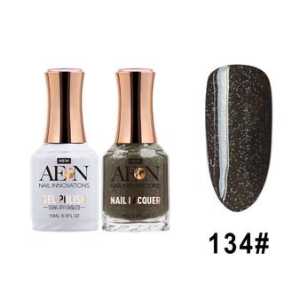 AEON Gel Polish & Nail Lacquer #134 Black Magic
