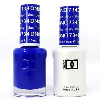 DND DUO GEL -BERRY BLUE #734
