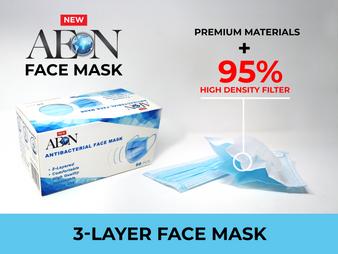 Aeon Disposable Face Mask 3 Layers ( Bag of 50pcs )