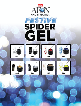 Aeon Spider Gel Festive Collection ( Set of 8 ) + Free 3 Design Brushes