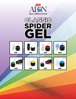 Aeon Classic Spider Gel Kit of 8 Colors + Free 3 Design Brushes