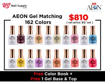 AEON Gel Matching 162 Colors Free Color Book + 1 Gel BAse + 1 Gel Top