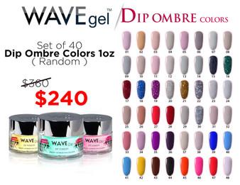 WaveGel Ombre Dip Powder 1oz ( Set of 40 Colors Random )