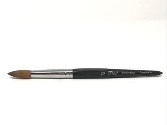 Petal Kolinsky Germany Black Acrylic Brush No.20