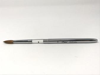 Petal Kolinsky Germany Silver Acrylic Brush No.8