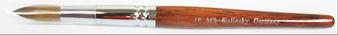 MS Kolinsky Germany Acetone Proof Red Wood Acrylic Brush No.18