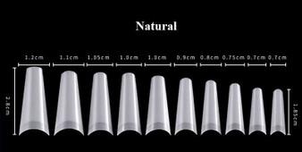 Nail Tips Coffin  Natural
