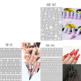 Nail Sticker Brand Name Glow Color